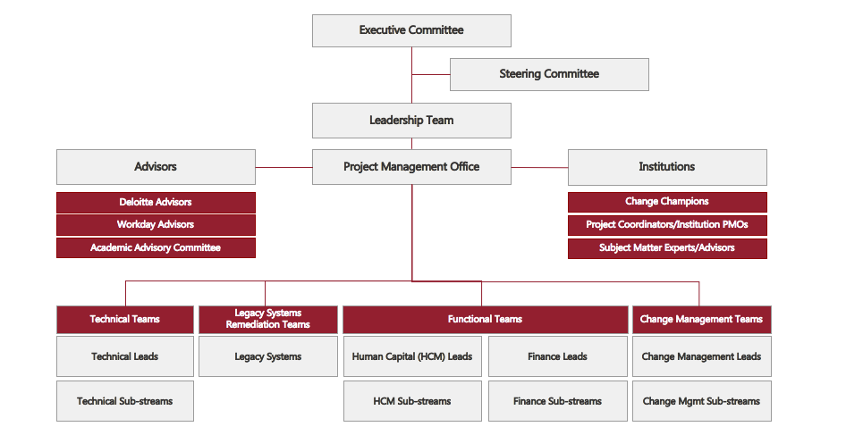 Project One Org Chart
